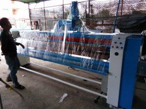 เครื่องรีดผ้าอุตสาหกรรม ก่อนส่งมอบงาน